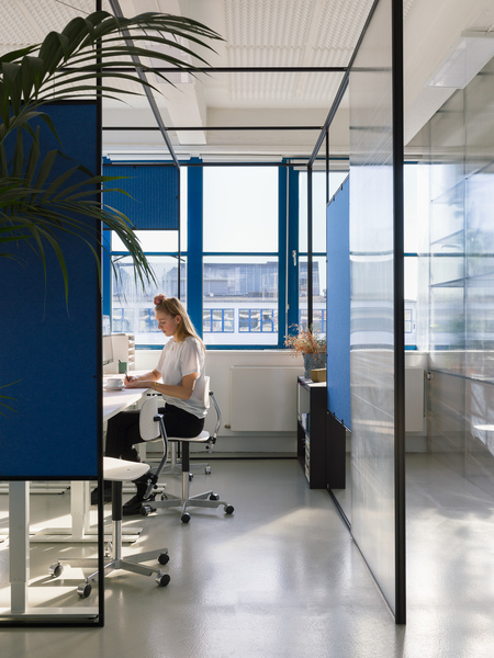 SPACE10: First Floor—Workspace, Blue Cubicle