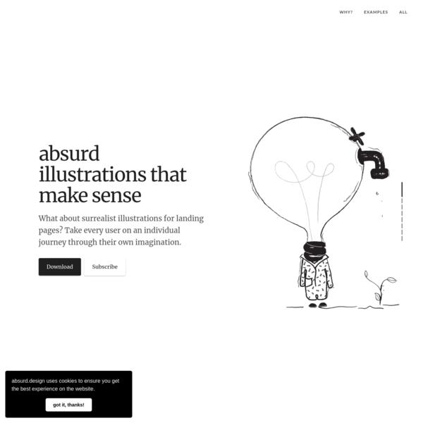 Absurd Design - Free Surrealist Illustrations for Landing Pages