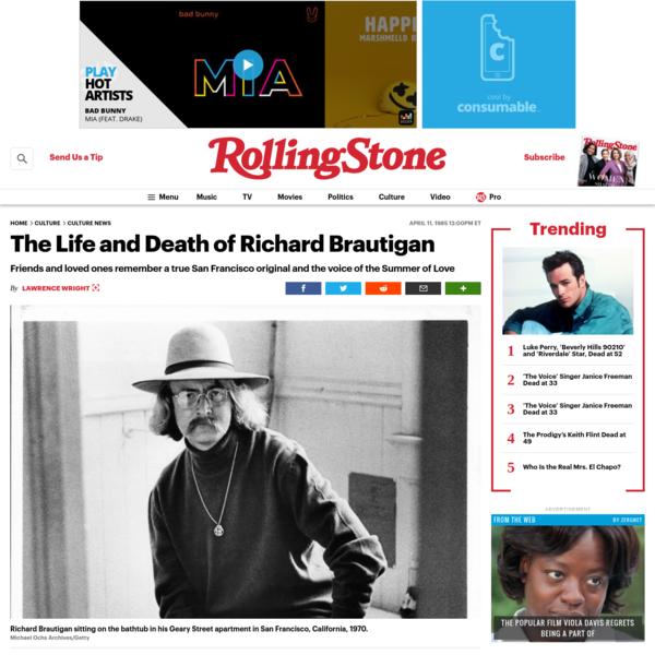 The Life and Death of Richard Brautigan