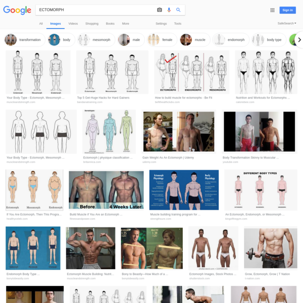 ECTOMORPH - Google Search