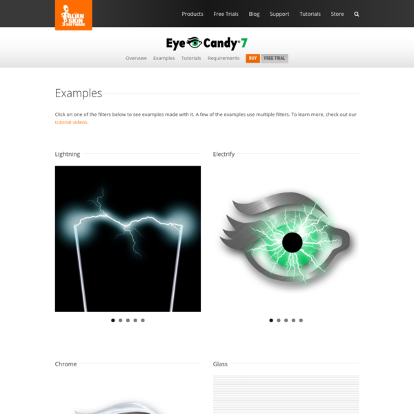 Eye Candy Examples - Alien Skin Software