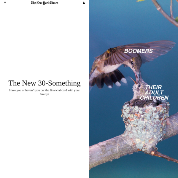 The New 30-Something - The New York Times