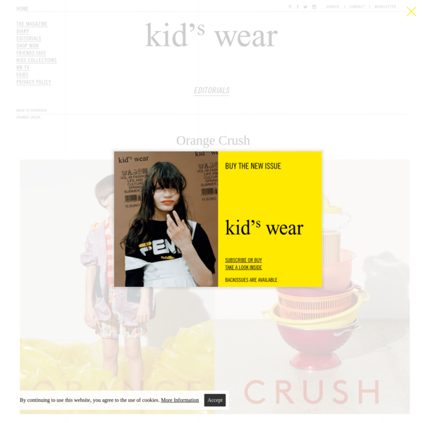 Kid's Wear - Orange Crush