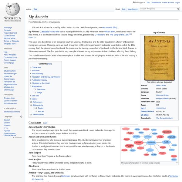 My Ántonia - Wikipedia