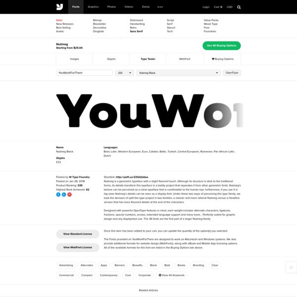 Nutmeg - Desktop Font & WebFonttypetester - YouWorkForThem