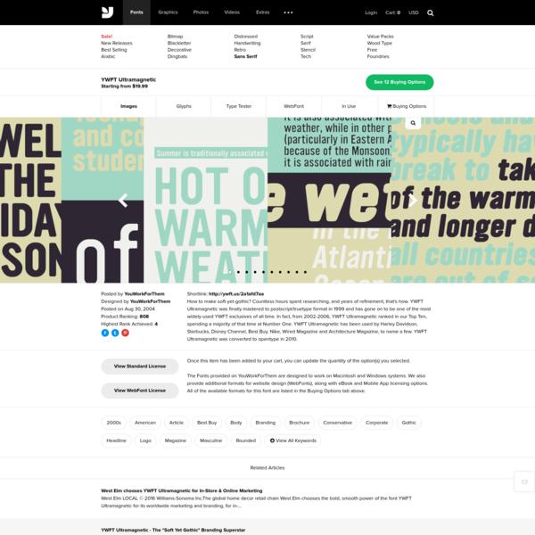 YWFT Ultramagnetic - Desktop Font & WebFont - YouWorkForThem