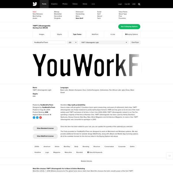 YWFT Ultramagnetic - Desktop Font & WebFonttypetester - YouWorkForThem