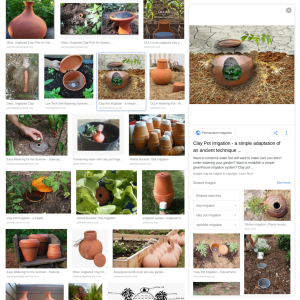 buried water pot ollas - Google Search