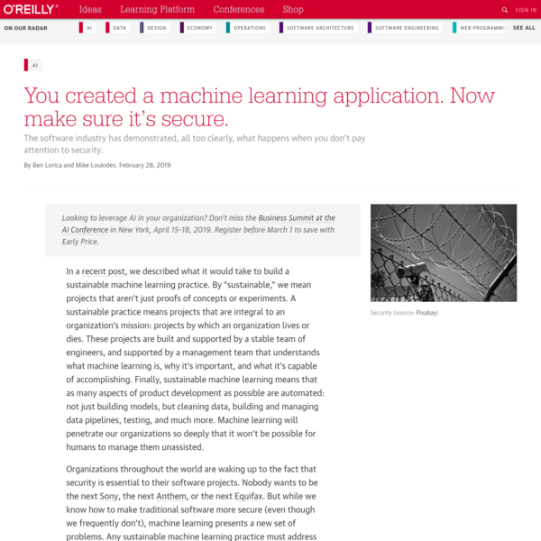 You created a machine learning application. Now make sure it's secure.