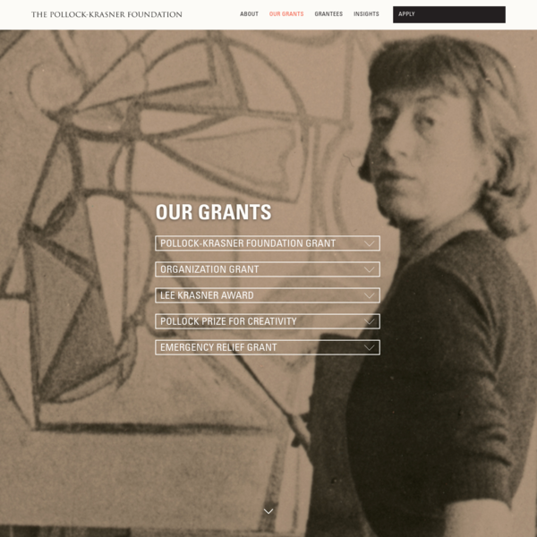 Our Grants - The Pollock Krasner Foundation