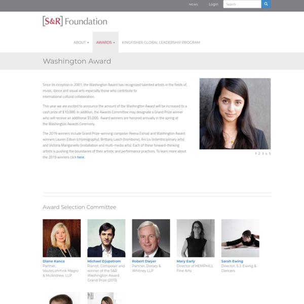Washington Award   S&R Foundation