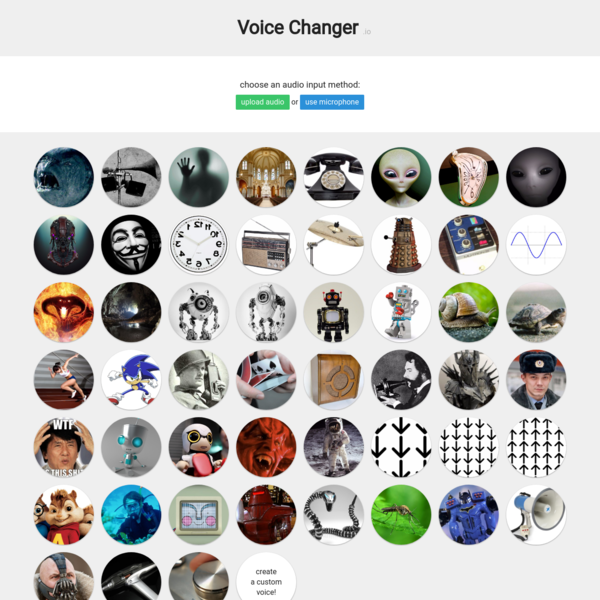 Voice Changer - Online & Free
