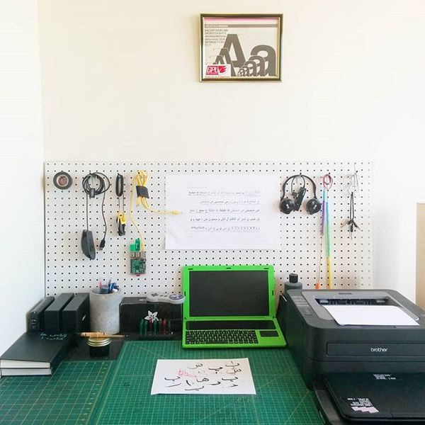 Calligraphy workspace:
