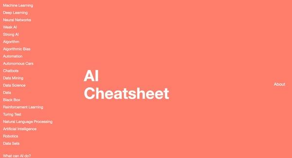 AI Cheatsheet