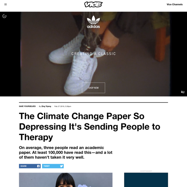 """The author with the """"Deep Adaptation"""" paper. Photo by VICE What if I told you there was a paper on climate change that was so uniquely catastrophic, so perspective-altering, and so absolutely depressing that it's sent people to support groups and encouraged them to quit their jobs and move to the countryside?"""
