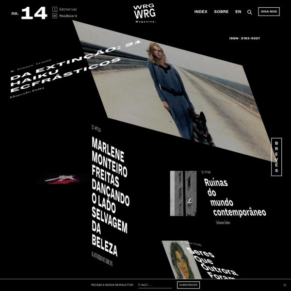 Publicação online centrada no campo da produção artística contemporânea