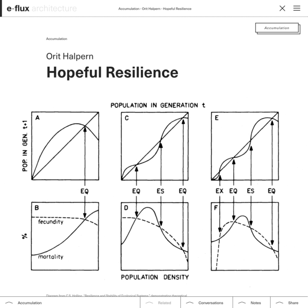 Hopeful Resilience - e-flux Architecture - e-flux