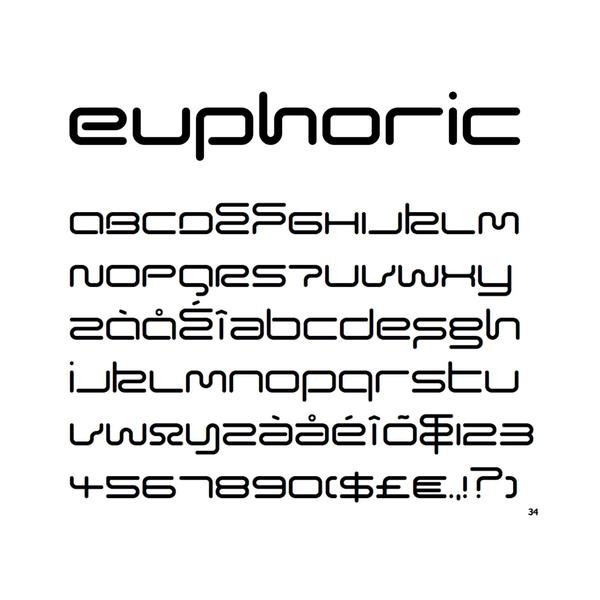 euphoric typeface design