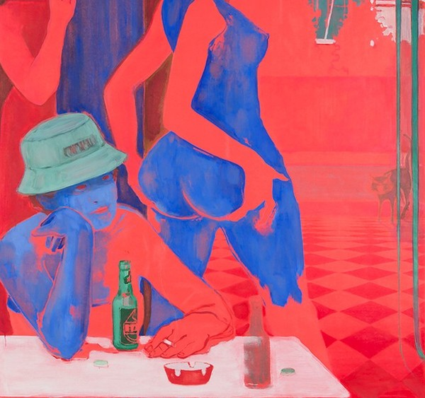 """1,569 Likes, 12 Comments - Stephen Friedman Gallery (@stephenfriedmangallery) on Instagram: """"#LisaBrice, Midday Drinking Den, After Embah I, detail, 2017, gouache on canvas. Currently on view..."""""""