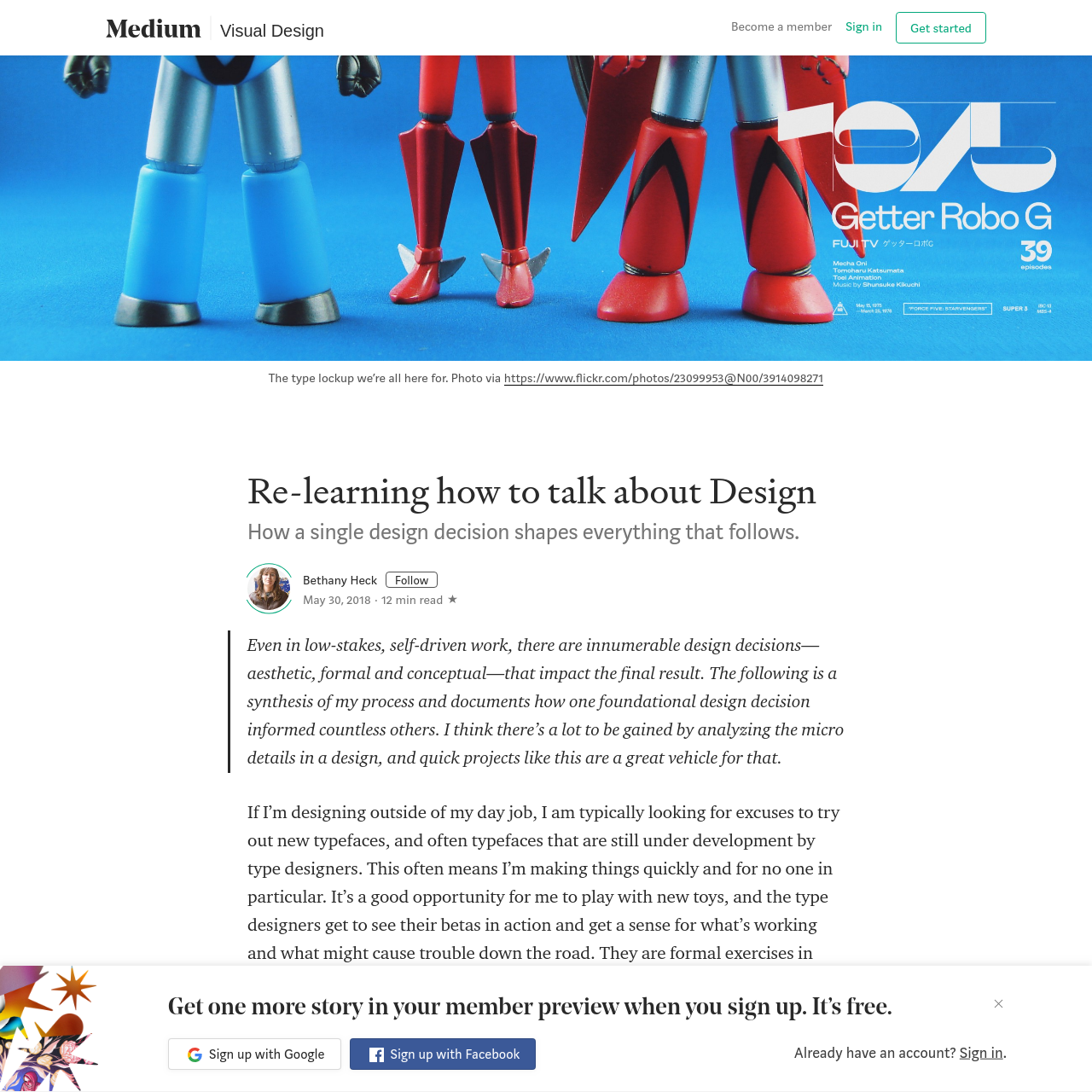 Are na / Re-learning how to talk about Design - Bethany Heck - Medium
