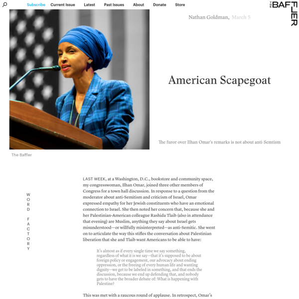 American Scapegoat | Nathan Goldman