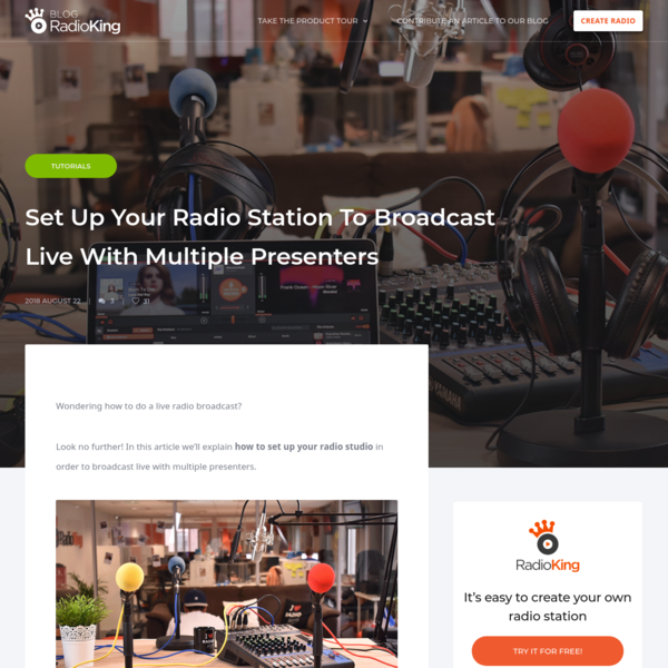 Wondering how to do a live radio broadcast? Look no further! In this article we'll explain how to set up your radio studio in order to broadcast live with multiple presenters. .Equipment Cables Here are the 3 types of cables you will need in order to set up your studio.