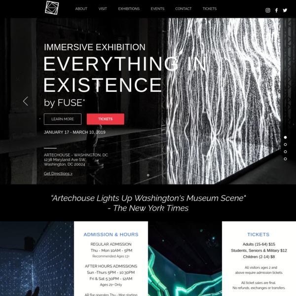 Digital Experiences | ARTECHOUSE | Washington, DC