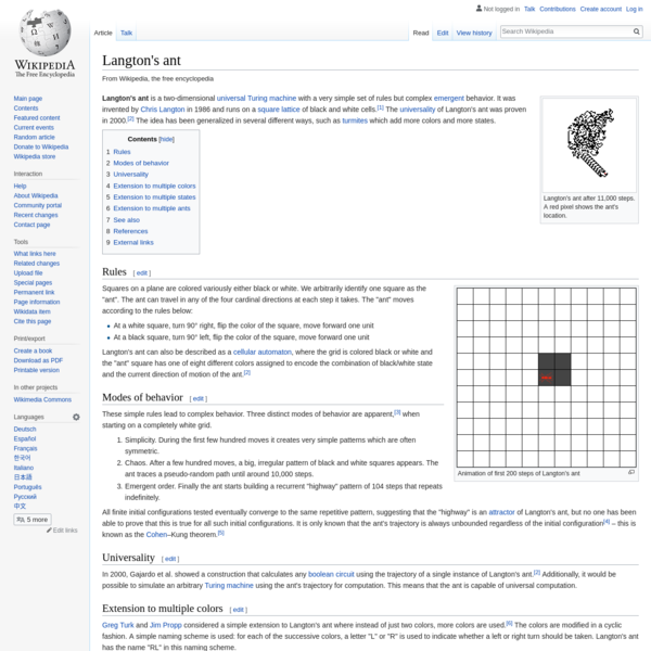 Langton's ant - Wikipedia