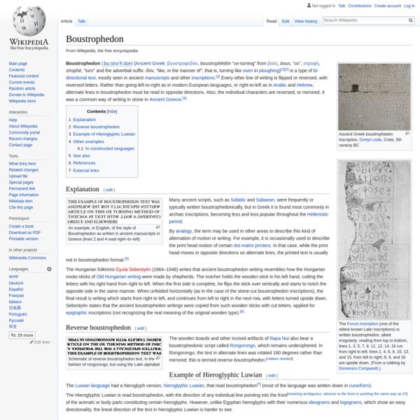 Boustrophedon - Wikipedia