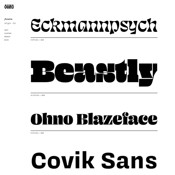 Fonts | OH no Type Company