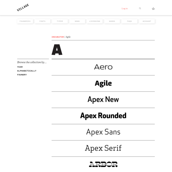 Village: Fonts by name