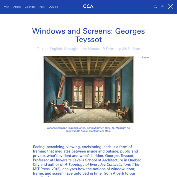 Windows and Screens: Georges Teyssot