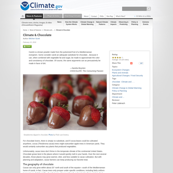 Climate & Chocolate | NOAA Climate.gov
