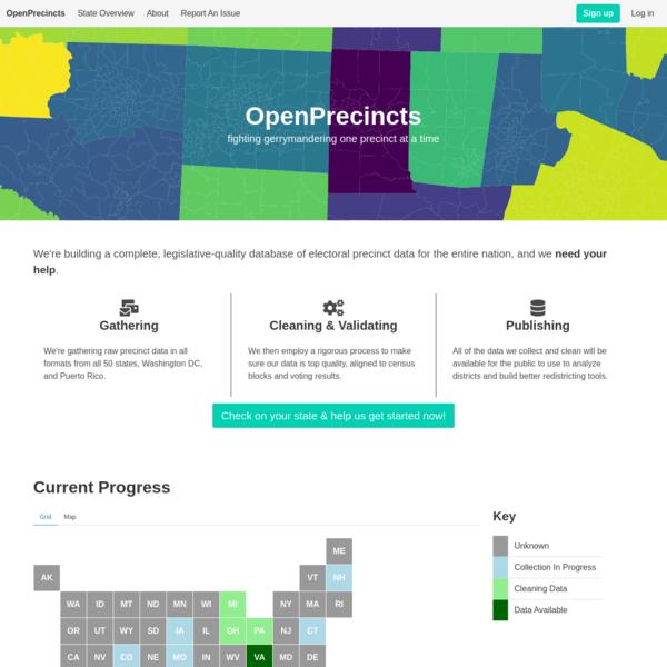 OpenPrecincts - FIghting Gerrymandering with Open Data