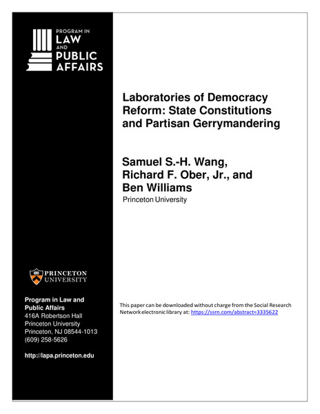 Laboratories of Democracy Reform: State Constitutions and Partisan Gerrymandering