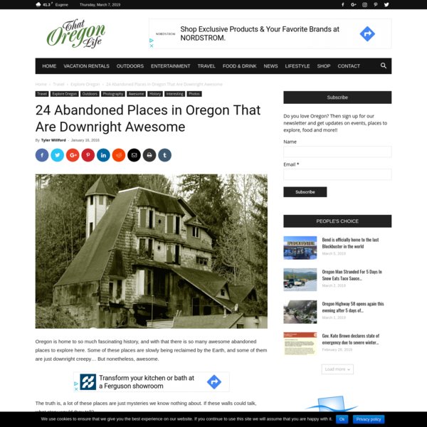 24 Abandoned Places in Oregon That Are Downright Awesome | That Oregon Life