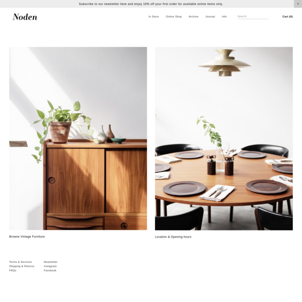 Noden is an independent store established in Singapore 2013 to share a handpicked range of beautifully crafted vintage furniture, with a focus in original Mid-Century & Scandinavian Modern design from the 1950s-70s.
