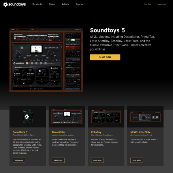 All 21 plug-ins, including Decapitator, PrimalTap, Little AlterBoy, EchoBoy, Little Plate, and the bundle-exclusive Effect Rack. Endless creative possibilities.