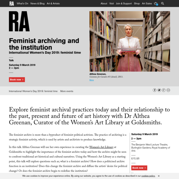 Feminist archiving and the institution   Event   Royal Academy of Arts