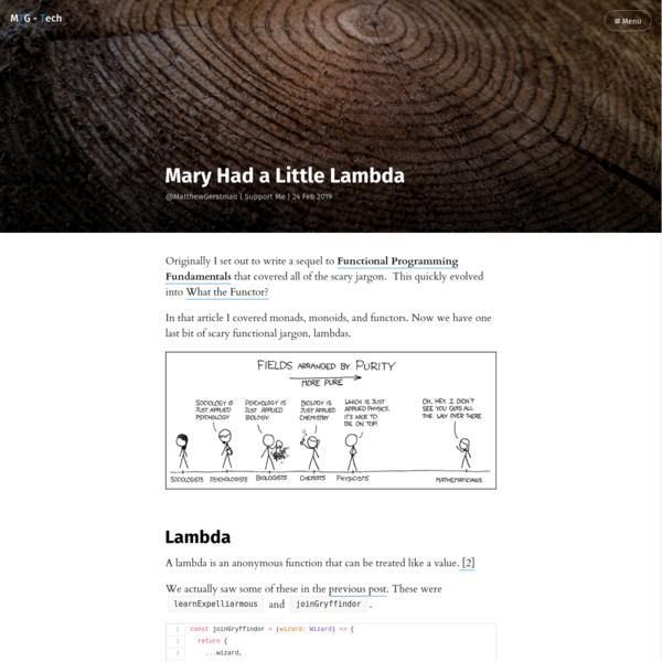 Mary Had a Little Lambda
