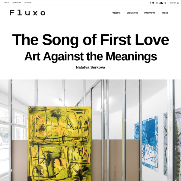 The Song of First LoveArt Against the MeaningsNatalya Serkova Martin Lukác. 'Interpreter's Booth', a duo show with Anu Vahtra at Lucie Drdova Gallery, Prague, 2017 One of the aims of interpreting a...