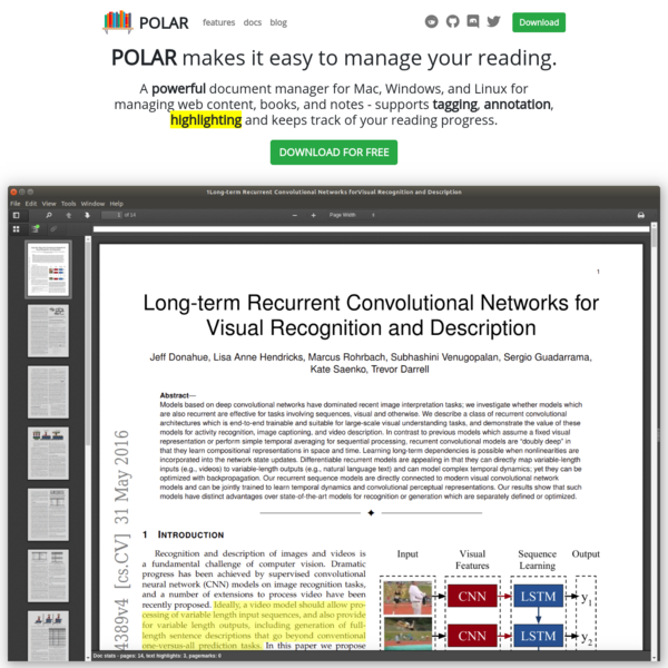 POLAR - Easily manage your reading. Tag, annotate, and highlight PDFs and web content.