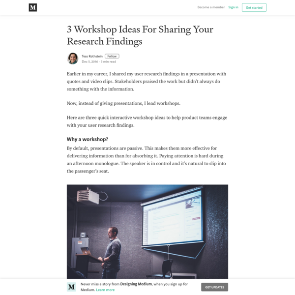 3 Workshop Ideas For Sharing Your Research Findings