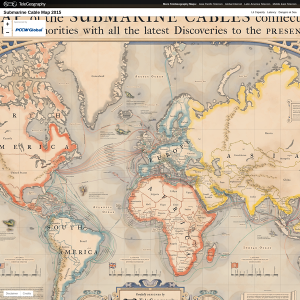 Submarine Cable Map 2015