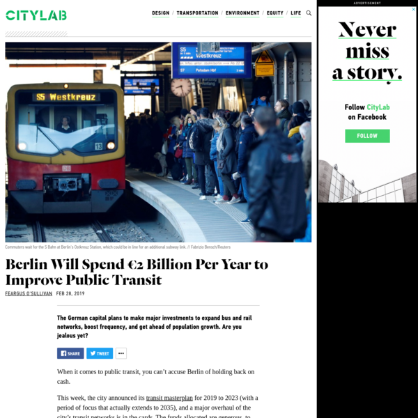 Berlin's New Transit Plan Might Be the Envy of Cities Everywhere