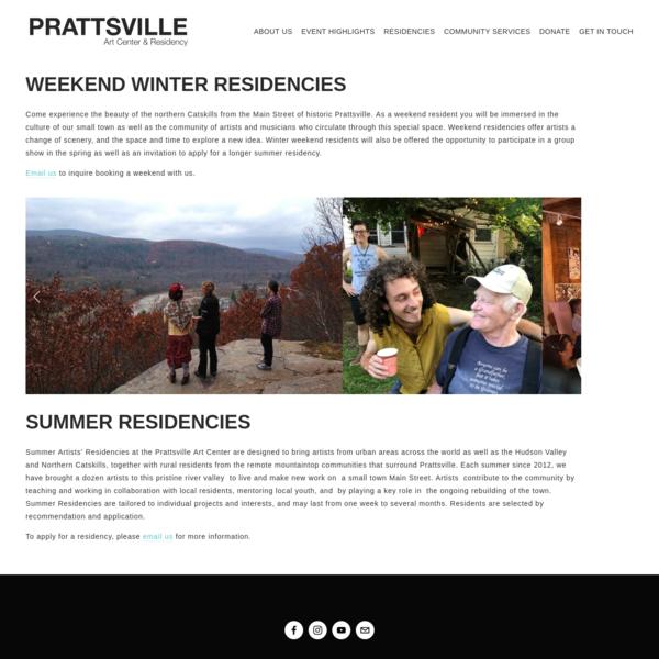 Residencies - Prattsville Art Center