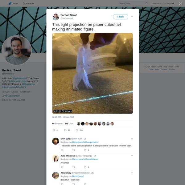 Farbod Saraf on Twitter