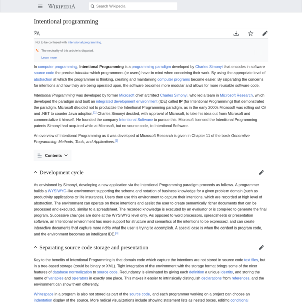 Intentional programming - Wikipedia