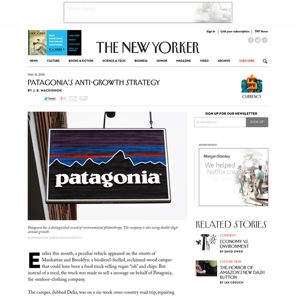 Patagonia's Anti-Growth Strategy - The New Yorker