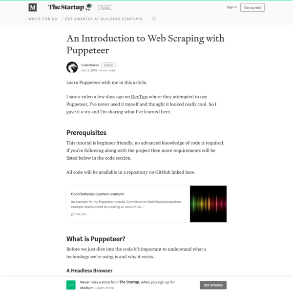 An Introduction to Web Scraping with Puppeteer